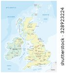 united kingdom map | Shutterstock .eps vector #328923224