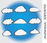 set of cloud vector illustrator | Shutterstock .eps vector #328928705