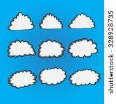 set of cloud vector illustrator | Shutterstock .eps vector #328928735