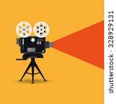retro cinema icon | Shutterstock . vector #328929131
