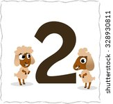 animal numbers for kids  2... | Shutterstock .eps vector #328930811