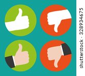 thumbs up and thumbs down | Shutterstock . vector #328934675