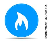 fire icon . flat design style  | Shutterstock . vector #328936415