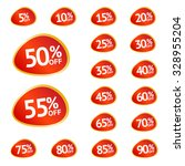 discount price tags. vector... | Shutterstock .eps vector #328955204