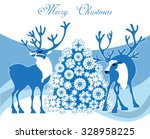 a winter christmas scene... | Shutterstock .eps vector #328958225