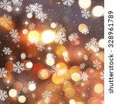 golden christmas background... | Shutterstock . vector #328961789