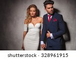 macho fashion elegant man... | Shutterstock . vector #328961915