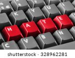 Word Hate Written With Red...