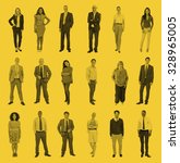 diverse people happiness... | Shutterstock . vector #328965005