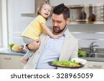 father and child at the kitchen   Shutterstock . vector #328965059