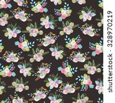 seamless floral pattern of... | Shutterstock . vector #328970219