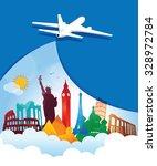 travel background | Shutterstock .eps vector #328972784