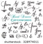 hand drawn elegant ampersands... | Shutterstock .eps vector #328974011
