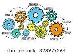 team teamwork goals strategy... | Shutterstock . vector #328979264
