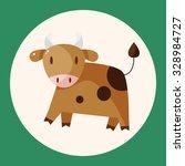 animal rattle cartoon theme... | Shutterstock .eps vector #328984727