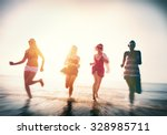 friendship freedom beach summer ... | Shutterstock . vector #328985711