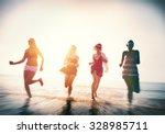 friendship freedom beach summer ... | Shutterstock . vector #328985711