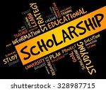 scholarship word cloud ...   Shutterstock .eps vector #328987715