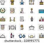 restaurant outline icons | Shutterstock .eps vector #328991771