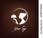 girl silhouette logo ... | Shutterstock .eps vector #328993004