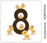 animal numbers for kids  8... | Shutterstock .eps vector #328995245