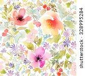 seamless spring pattern.... | Shutterstock . vector #328995284