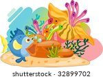 coral reef  vector image... | Shutterstock . vector #32899702