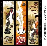 coffee girls banners. to see... | Shutterstock .eps vector #32899897