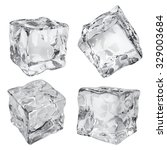 set of four opaque ice cubes in ... | Shutterstock .eps vector #329003684