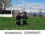 boys | Shutterstock . vector #329009657