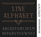 line alphabet font. decorative... | Shutterstock .eps vector #329017679
