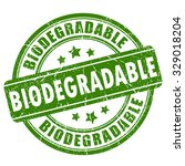 biodegradable rubber stamp   Shutterstock .eps vector #329018204