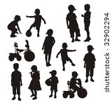 composition from children's... | Shutterstock .eps vector #32902294