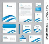 corporate identity branding... | Shutterstock .eps vector #329024447