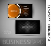 business card with big button.... | Shutterstock .eps vector #329024759