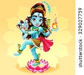 dance of shiva. funny...   Shutterstock .eps vector #329027759