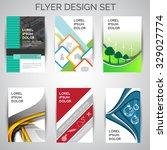 vector set of business flyer... | Shutterstock .eps vector #329027774