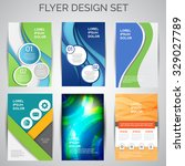 vector set of business flyer... | Shutterstock .eps vector #329027789