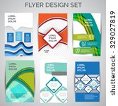 vector set of business flyer... | Shutterstock .eps vector #329027819