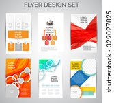 vector set of business flyer... | Shutterstock .eps vector #329027825