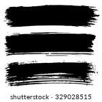 black ink stroke. collection of ... | Shutterstock .eps vector #329028515