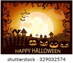 halloween card or background.... | Shutterstock .eps vector #329032574