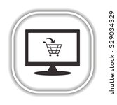 put in shopping cart. modern... | Shutterstock .eps vector #329034329