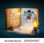 Magical Opened Book With Fairy...