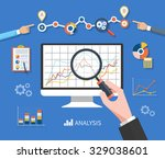 banner with focused magnifying... | Shutterstock .eps vector #329038601