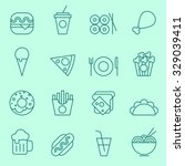 food icons  thin line design | Shutterstock .eps vector #329039411