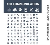 100 communication  connection ... | Shutterstock .eps vector #329046485