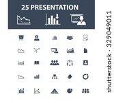 presentation icons | Shutterstock .eps vector #329049011