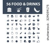 food  drinks icons | Shutterstock .eps vector #329059175