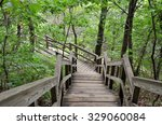 Outdoor Wooden Stair Case In...